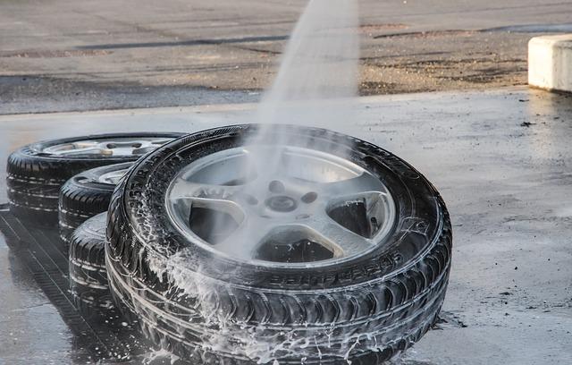 mytí pneumatik